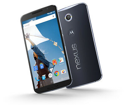 Google Nexus 6 XT1103 4G LTE - 32GB - Blue Factory Unlocked GSM- Water Resistant