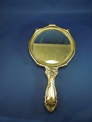 Vintage Hope Silver Silver Plated Fairy Flower Fantasy Hand Mirror