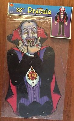 "Vintage 1998 Beistle Jointed Halloween Decoration 38"" Dracula NOS-01192"