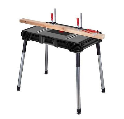 Jobsite Workbench Portable Folding Tool Stand Table Husky 1.8ft x 3ft Heavy Duty