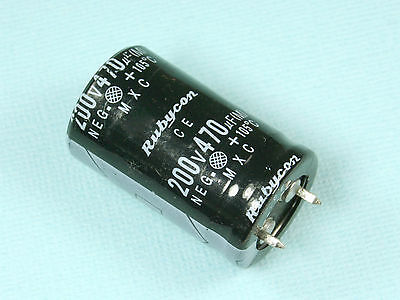 NEW 220uF 25V Rubycon 105C Aluminum electrolytic Capacitor YXJ Series 1