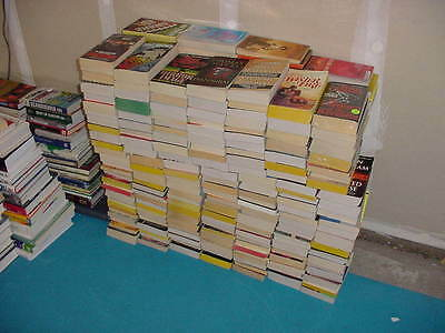 Lot of 100 PBs Fiction Mystery Action Adventure Pulps Literary Romance Mix Books