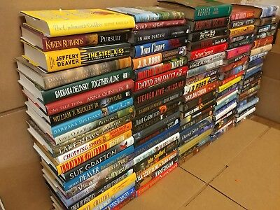 Lot of 100 Action Mystery Romance Sci-Fi Thriller Literature Hardcover HBs Books