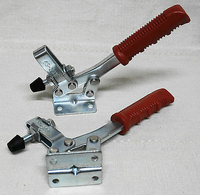 2 X Lever Clamp Horizontal 227Kg Heavy Duty Metal Work Clamp