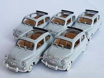 Solido 5 X Fiat 600 Seat Car Grey 1/43Rd Size Model Roof Open 500 T3412Z(=)