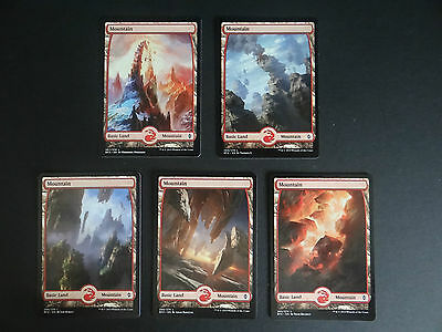 MTG Battle for Zendikar / Oath OGW - BFZ Full art basic land packs of 5
