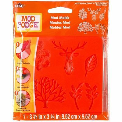 Plaid MOD PODGE Mod Molds MYSTICAL FOREST 25132 Use with Mod Melts Tree Reindeer