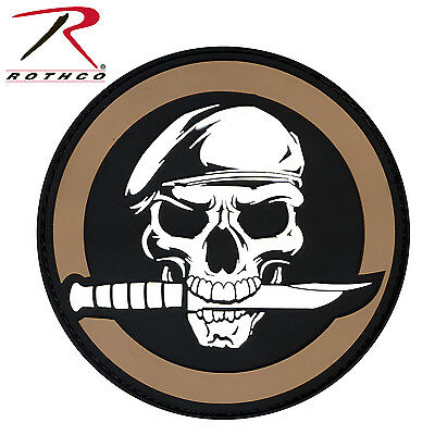 72197 Rothco PVC Military Skull & Knife Morale Patch