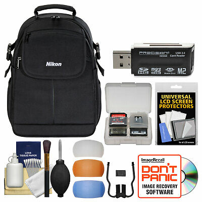 Nikon 17006 Compact DSLR Camera Backpack Case Bag + Kit