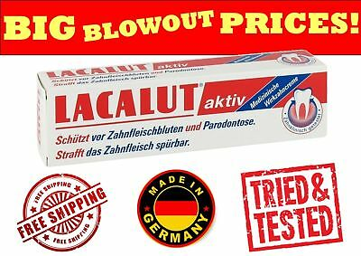 LACALUT AKTIV Activ Medical Toothpaste stops bleeding gums / Periodontitis 75ML