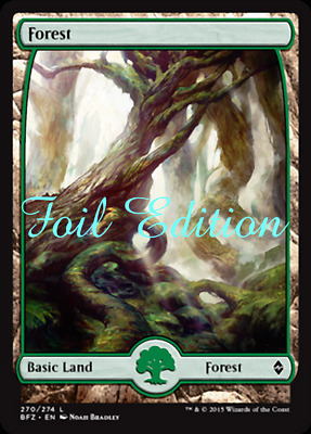 MTG Battle for Zendikar (BFZ) Choose your Full Art Foil Basic Lands