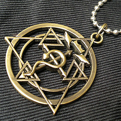 Anime Fullmetal Alchemist stainless steel pendant necklace cosplay gift hot sale