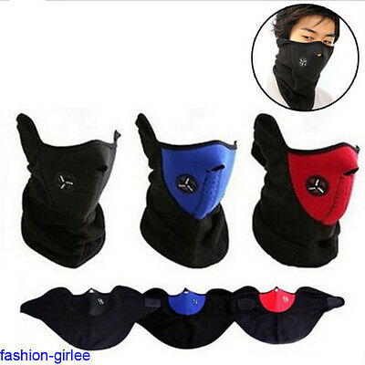 Hot Unisex Bike Cycling Warm Skateboard Outdoor Anti-dust Half Face Mask 3Colors