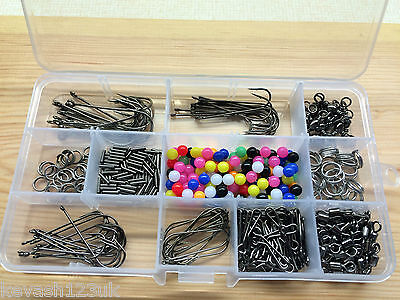 Sea Fishing Rig Kit.Makes 50 + Rigs,Beads/Swivels/Crimps/Hooks + a free Gift.