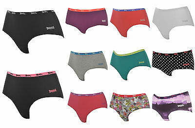 Lonsdale Womens Ladies Sports Pants Gym Shorts knickers underwear 8 10 12 14 16