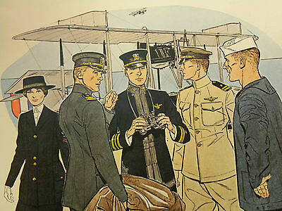 Druck 41 x 51 cm Uniforms of the UNITED STATES NAVY 1917-1918 (1)