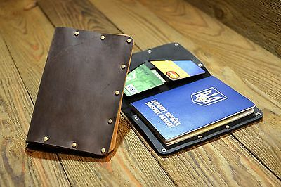 New HandMade leather passport holder, Pass Cover, Travel Document Holder (036)