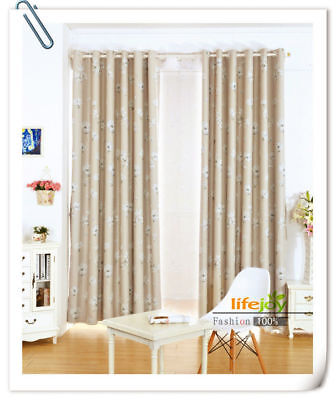 BLOCKOUT EYELET CURTAINS BLOCKOUT CURTAIN Flora BLUE French Style