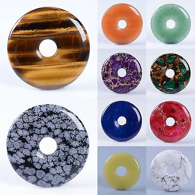 40mm Gemstone donut pendant bead different quantity for your choice