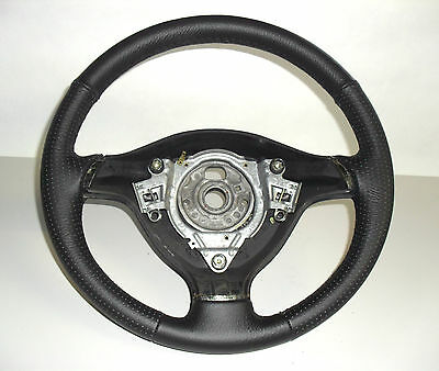 GOLF 4 STEERING WHEEL COVER specific GENUINE LEATHER BLACK Made IN Italy