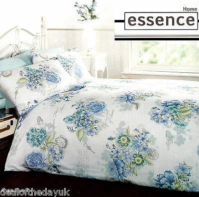 Vintage Floral Duvet Cover with Pillow Cases Quilt Cover Bedding Set Double King