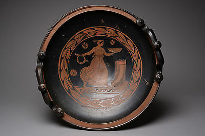 Large Ancient Greek Red Figure Apulian Patera - 320 BC