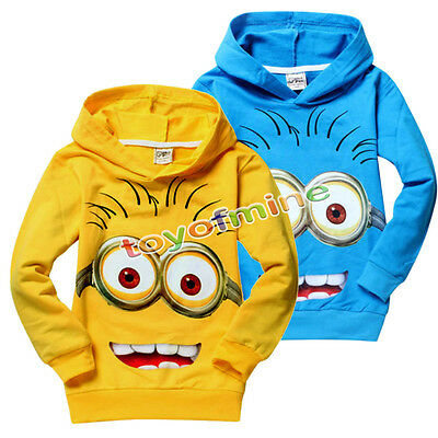 Cute Minions Kids Boys Girls Hoodies Coat Clothes 2-7Years Costume Despicable Me