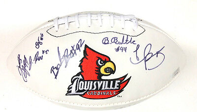 2012 Louisville Cardinals Team Signed Logo Football Teddy Bridgewater Coa