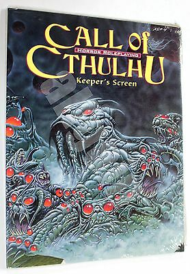 Call Of Cthulhu 5th Edition KEEPER'S SCREEN + ADVENTURE 2000 Chaosium #2387 RARE