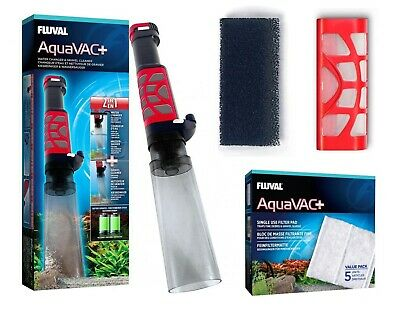 FLUVAL AquaVAC+ AQUARIUM GRAVEL VACUUM FOAM VAC FILTER CARTRIDGE PAD FISH TANK