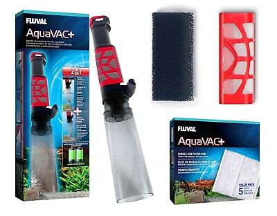 Fluval Aquavac+ Gravel Vacuum Foam Filter Cartridge Pad Water Fish Tank Vac