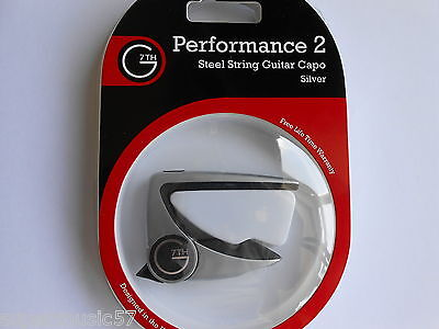 Silver G7Th Performance 2 Capo For Acoustic Or Electric Guitar - New Model