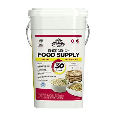 Augason Farms 30 Day Month Food Storage Emergency All in One Pail - Water & Fire