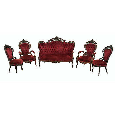 Rococo Revival Parlor Suite, Stanton Hall Pattern by Joseph Meeks #7808