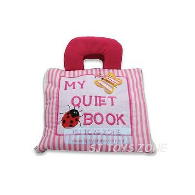My Quiet Book Fabric Cloth My Quiet Book Pink Striped Learning Activity Toy Gift