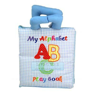 My Quiet Book Fabric Cloth My Alphabet Play Book Learning Activity Toy Gift