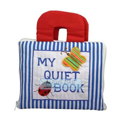 My Quiet Book Fabric Cloth My Quiet Book Blue Striped Learning Activity Toy Gift