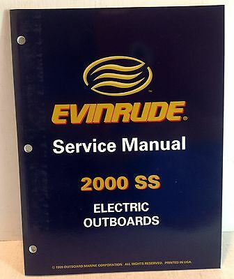 Evinrude Outboards OMC 2000 SS Electric Outboards Service Manual, 787059 (2815)
