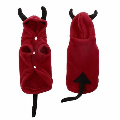 Devil Hoodie Costume Dog Clothes Pet Coat Puppy Costumes Winter Xmas Halloween