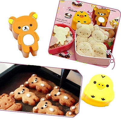 Best Price 2pcs Chicken Bear Sushi Mold Rice Mould Egg Chocolate Maker Hot