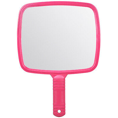 Large Pink Handheld Hairdresser Mirror Practical Salon Barber Accessory - By TRI