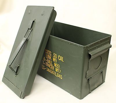 Military Issued 50 Cal Ammo Can, 5.56MM Ammo Can, Steel Storage Can, New