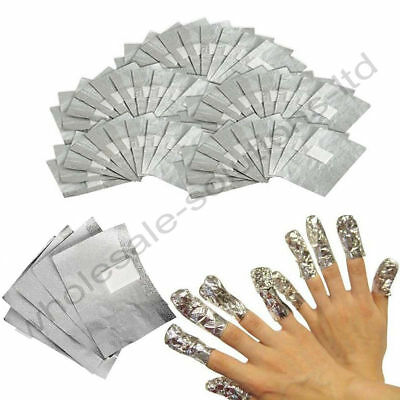 100 x Uv Gel Removal Foils With Pads Shellac Nail Art Acrylics Soak Off Wraps