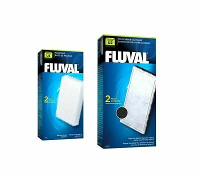 Fluval U2 Internal Filter Media Replacement Foam Pad Poly Carbon  Fish Tank