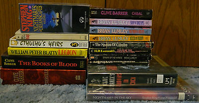 19 book horror lot - HP Lovecraft Clive Barker Brian Lumley Stephen King Cthulhu