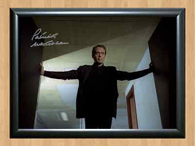 The Prisoner Patrick Mcgoohan Signed Autographed A4 Print Poster TV Series dvd