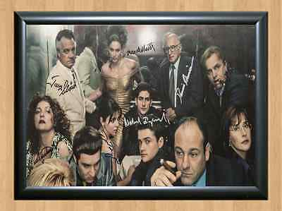 The Sopranos James Gandolfini Signed Autographed A4 Print Poster TV Series dvd
