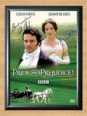 Pride and Prejudice Collin Firth Jennifer Signed Autographed A4 Print Poster TV