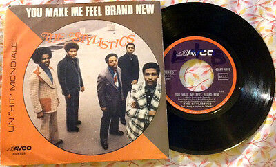 """THE STYLISTICS / YOU MAKE ME FEEL BRAND NEW - 7"""" (Italy 1974) EX/EX"""