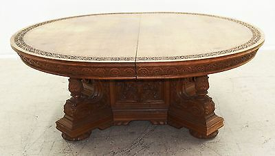 RJ Horner Oak Original Condition Dining Table #7853